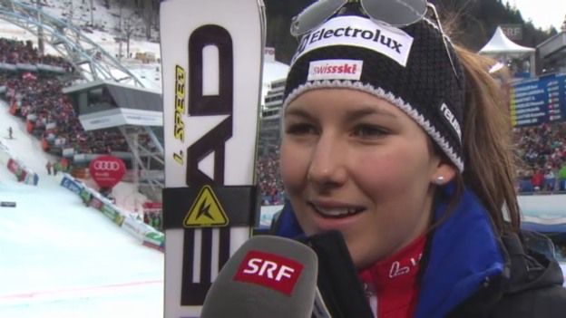Video «Slalom-WM: Interview Holdener» abspielen