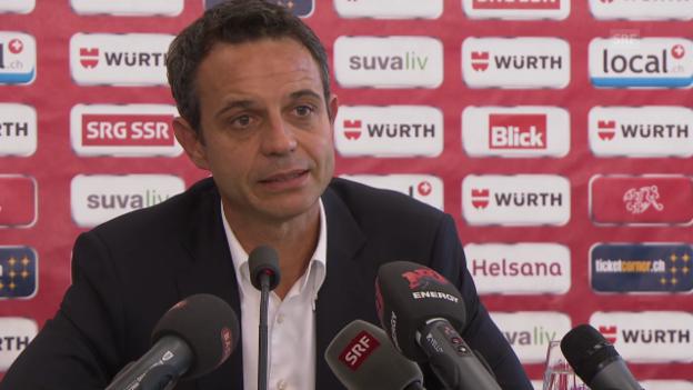 Video «Fussball: Bernhard Heusler begründet den Rekurs-Verzicht» abspielen