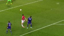 Video «Ibrahimovics verhängnisvolle Szene im Spiel gegen Anderlecht» abspielen