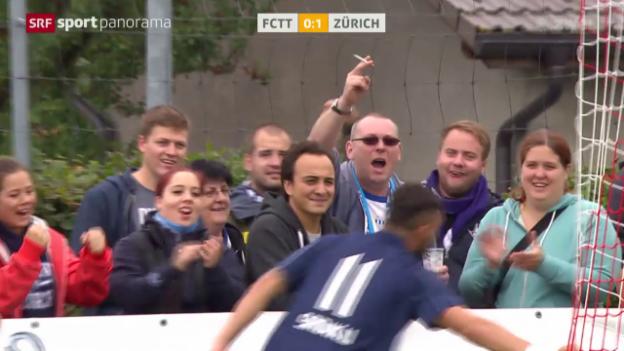Video «Fussball: Schweizer Cup, Tavannes-Tramelan - Zürich» abspielen