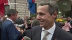 Video «Ignazio Cassis wird in Bellinzona herzlich empfangen» abspielen