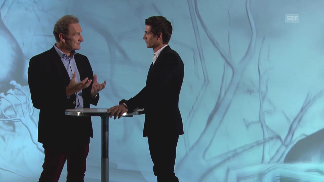 Lutz Jäncke im Gespräch mit «Einstein»-Moderator Tobias Müller