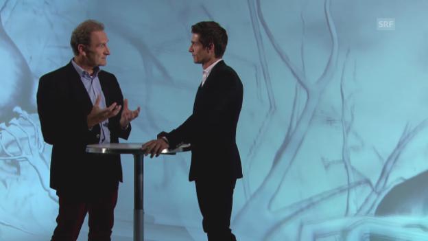 Video «Lutz Jäncke im Gespräch mit «Einstein»-Moderator Tobias Müller» abspielen