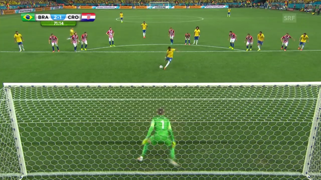 Fussball: WM in Brasilien, Eröffnungsspiel Brasilien - Kroatien, Höhepunkte