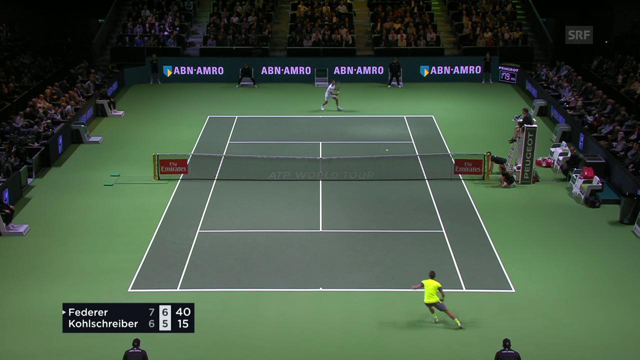 Die besten Szenen bei Federer - Kohlschreiber