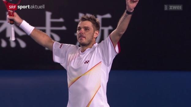 Video «Tennis: Vor dem Halbfinal Wawrinka - Djokovic» abspielen