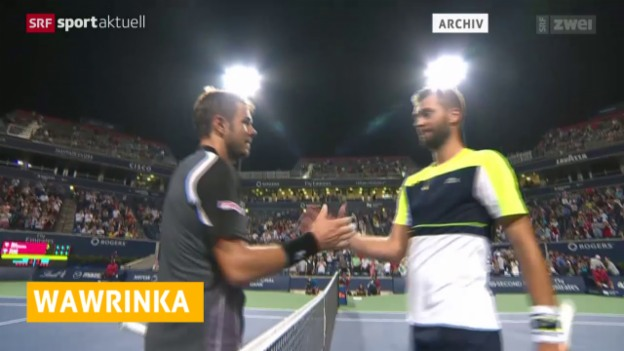 Video «Tennis: Marseille, Wawrinka - Paire» abspielen