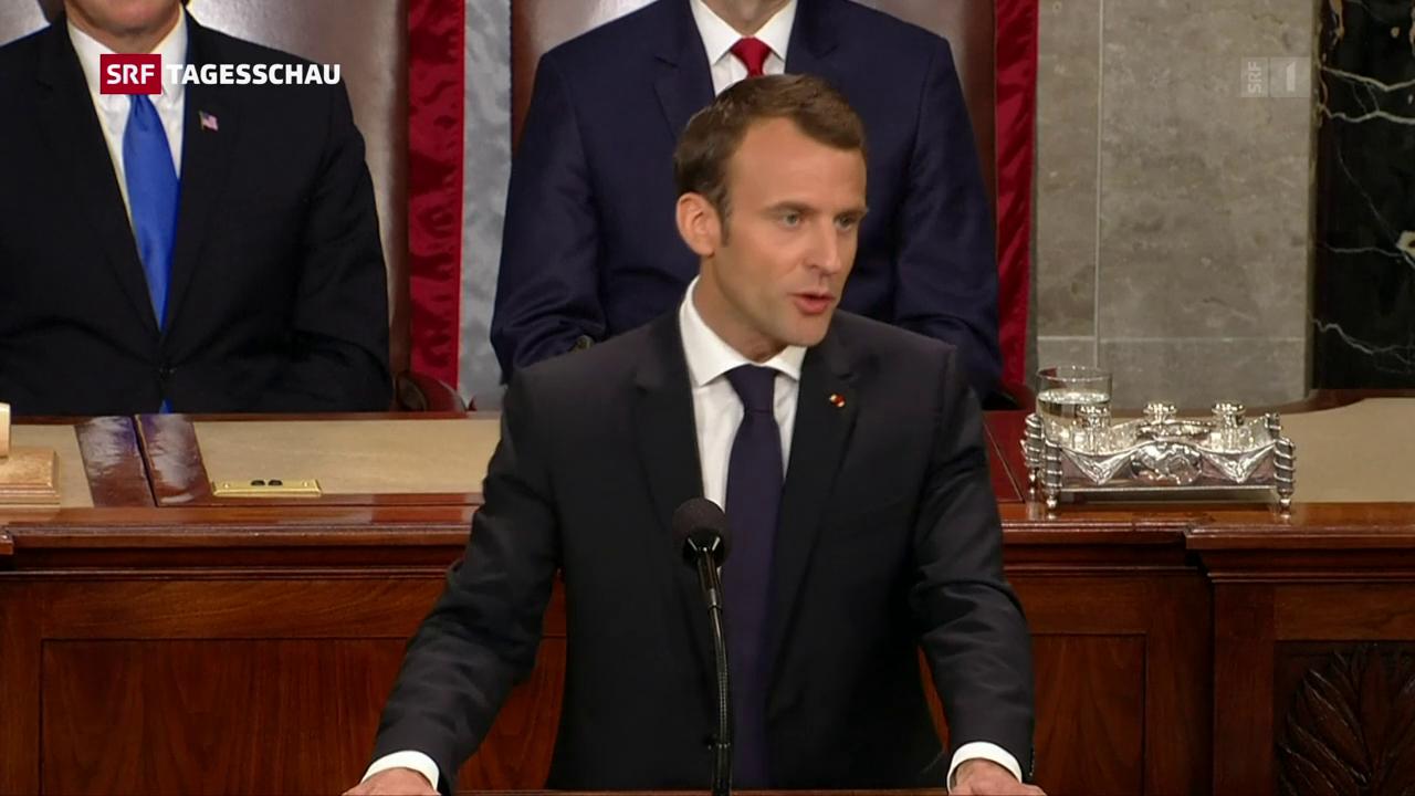 Frankreichs Präsident Macron kritisiert US-Präsident Trump