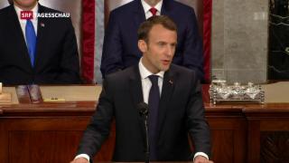 Video «Frankreichs Präsident Macron kritisiert US-Präsident Trump» abspielen