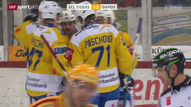 Video «Eishockey: SCL Tigers - Davos» abspielen