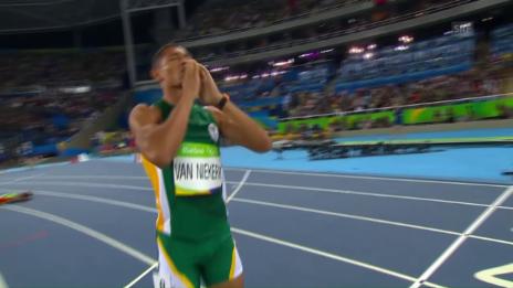 Video «Van Niekerks 400m-Weltrekordlauf» abspielen