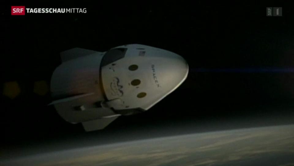 SpaceX startet im Weltraum durch