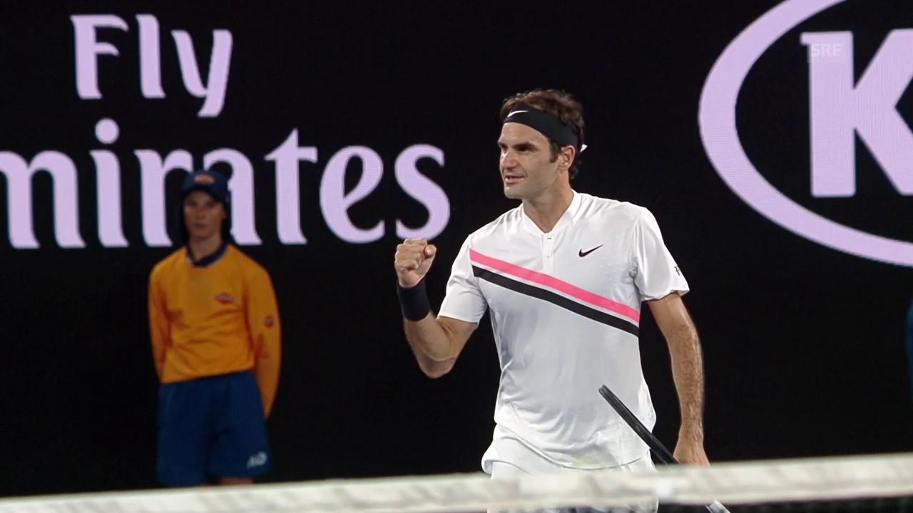 Federer steht in Melbourne in Runde 3