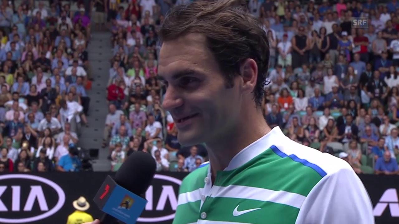 Platz-Interview mit Roger Federer