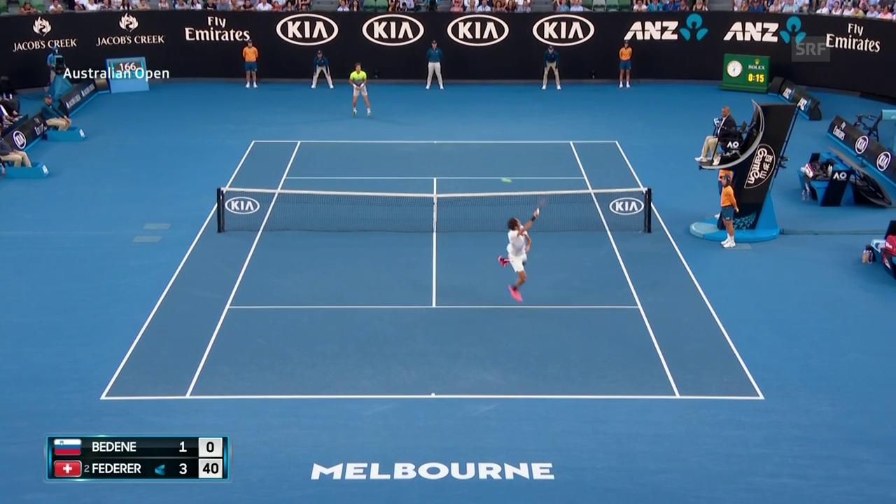 Wie bitte? Federers Punkt zum 4:1