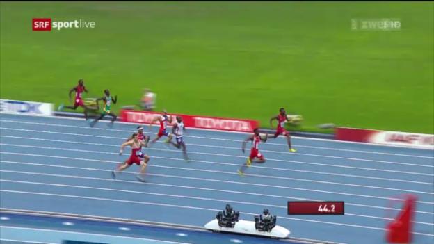Video «LA-WM: Final über 400 m Hürden» abspielen