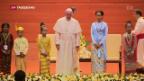 Video «Papst erwähnt «Rohingya» nicht» abspielen