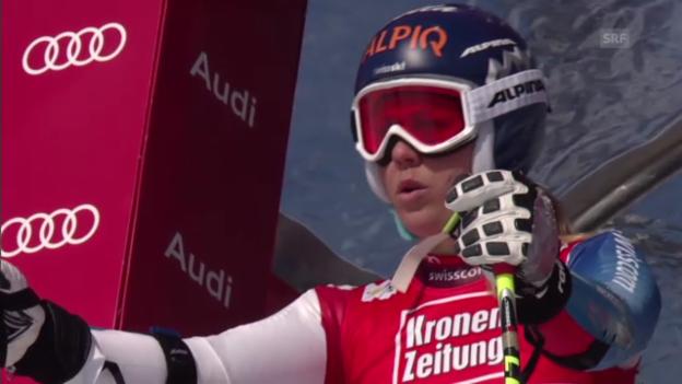 Video «Ski: Fränzi Aufdenblattens Fahrt beim Super-G in St. Anton» abspielen