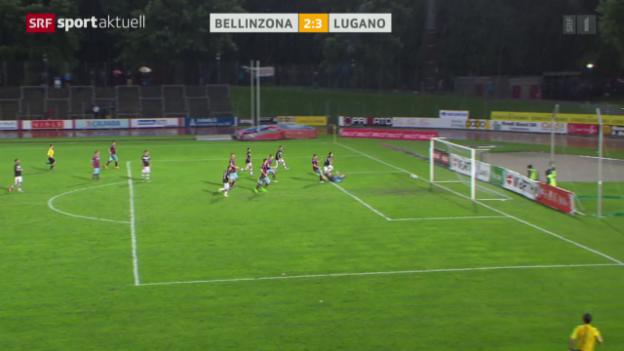 Video «Fussball: Cup, Bellinzona - Lugano» abspielen