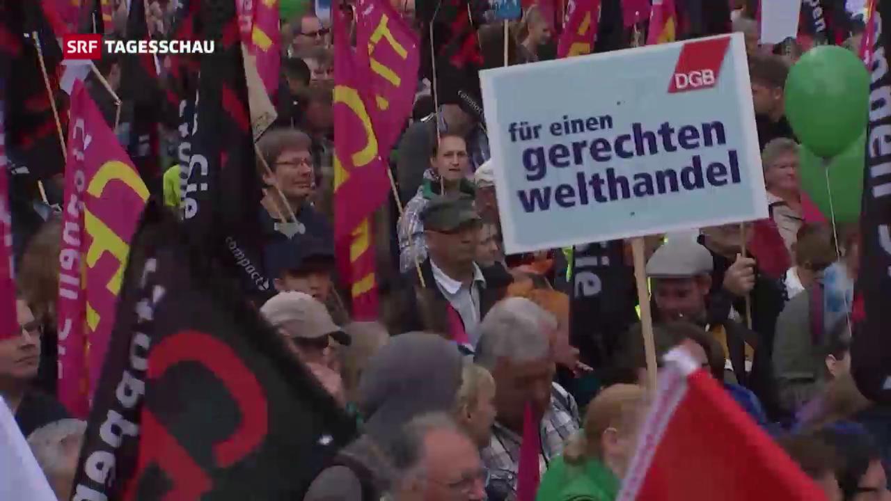 Demonstrationen gegen Handelsabkommen