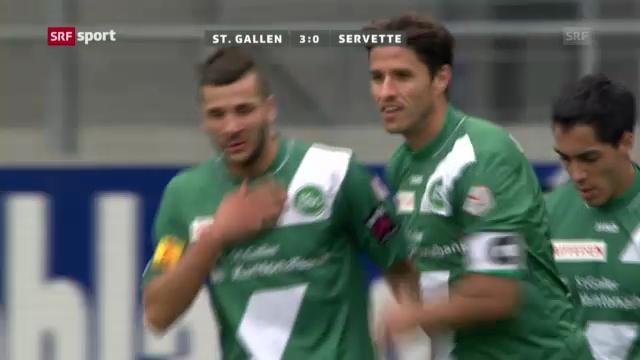Fussball: Zusammenfassung St.Gallen - Servette («sportpanorama»)