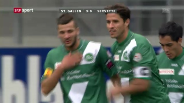 Video «Fussball: Zusammenfassung St.Gallen - Servette («sportpanorama»)» abspielen