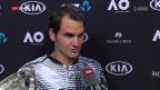 Video «Roger Federer über seinen 18. GS-Titel» abspielen