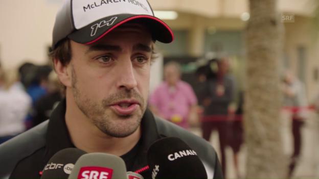 Video «Warm-up: Der GP von Bahrain ohne Fernando Alonso» abspielen
