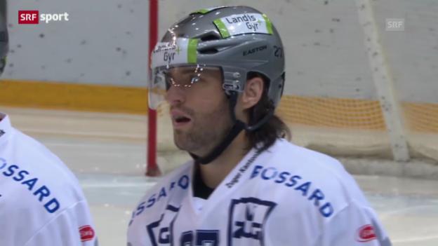 Video «Eishockey: Lausanne - Zug («sportaktuell»)» abspielen