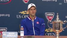 Video «Tennis: US Open, Medienkonferenz Novak Djokovic» abspielen