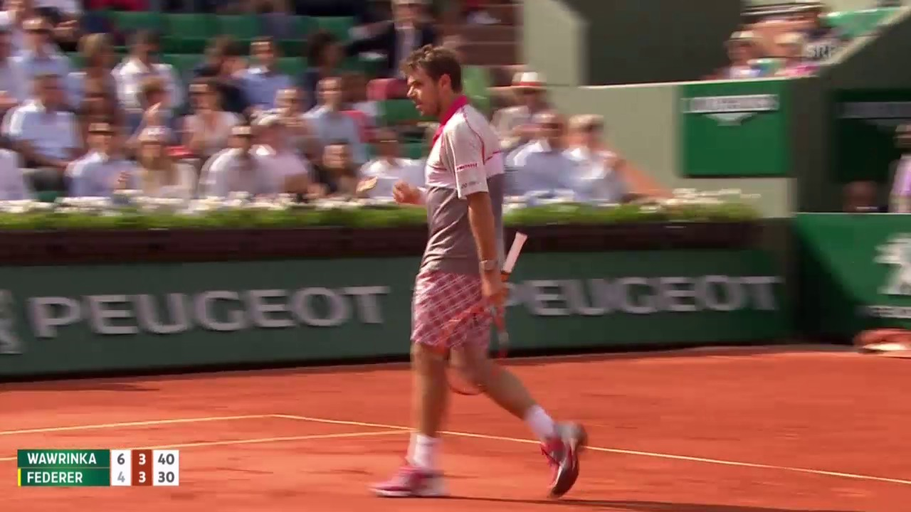 Tennis: Grand Slam, French Open, Viertelfinal Wawrinka – Federer, 2. Break Wawrinka