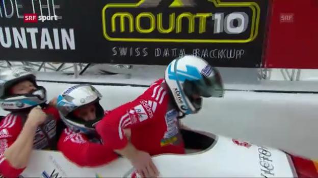 Video «Bob: Vierer-WM St. Moritz» abspielen