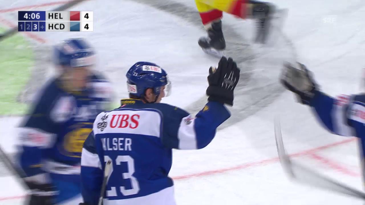 Eishockey: Spengler Cup, Jokerit - Davos, 4:4-Ausgleich durch Walser