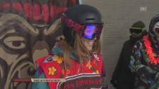 Video «Snowboard: European Open, Halfpipe Frauen, 1. Run Purtschert» abspielen