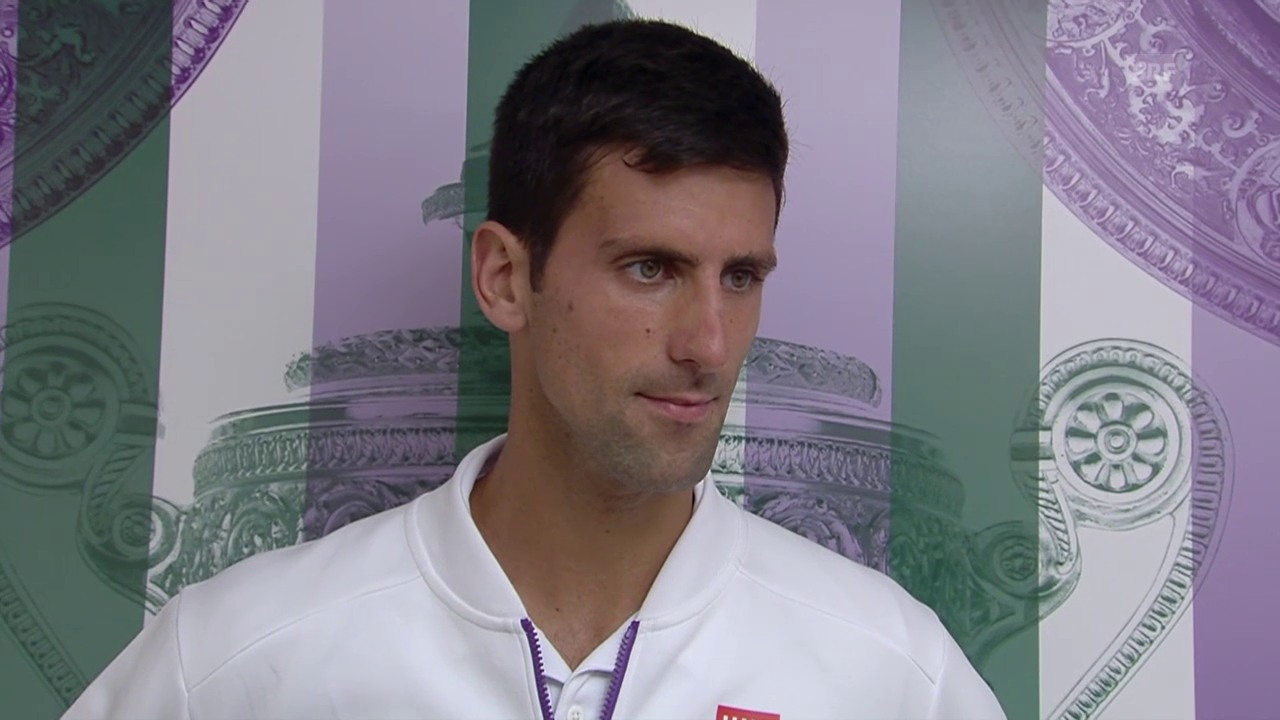 Tennis: Wimbledon, Interview Novak Djokovic