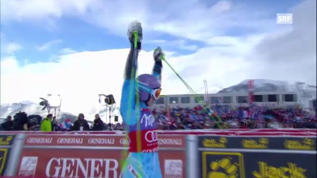Ski alpin: 2. Lauf von Tina Maze in Courchevel