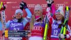 Video «Ski alpin: Abfahrt der Frauen in Val d'Isère» abspielen