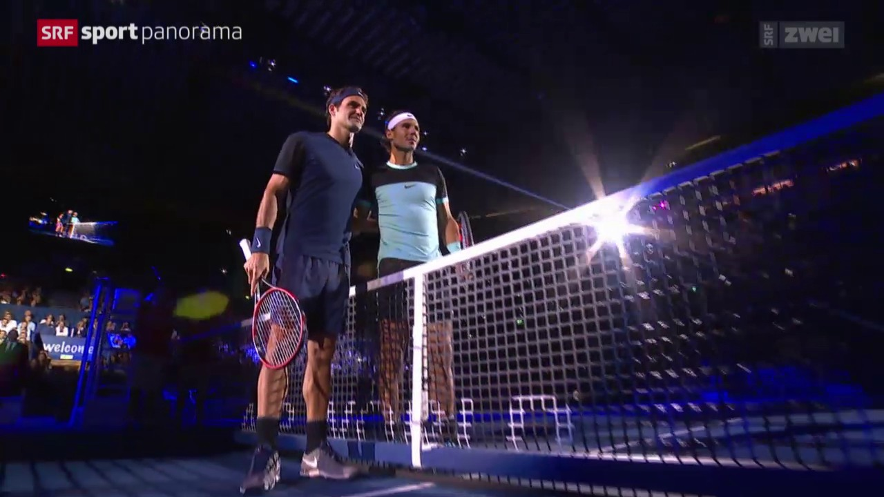 Tennis: Swiss Indoors Basel, Final Federer-Nadal