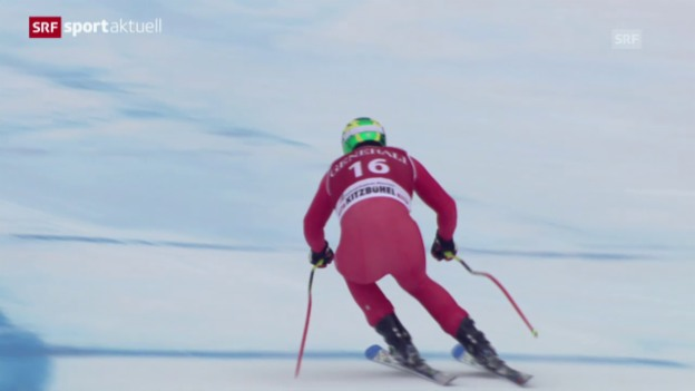 Video «Ski Alpin: Super-G in Kitzbühel («sportaktuell»)» abspielen