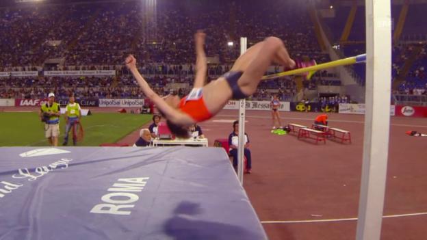 Video «Leichtathletik: Diamond League Meeting Rom, Hochsprung Frauen, Beitia» abspielen