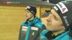 Video «Skispringen: Ammann und Co. in Klingenthal» abspielen