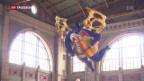 Video «Der Engel im Hauptbahnhof Zürich wird poliert» abspielen