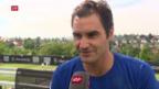 Video «Federer: «Bin im unsicheren Bereich»» abspielen