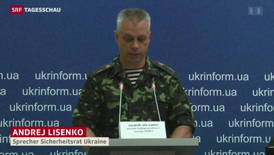 Harte Kämpfe in der Ostukraine