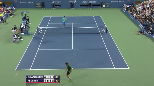 Video «TENNIS: Highlights Federer - Granollers» abspielen