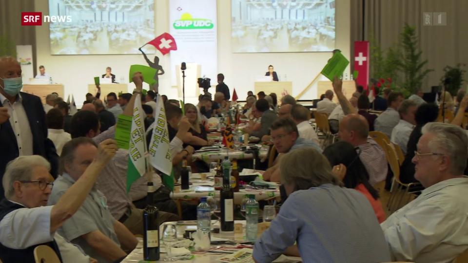 SVP-Delegierten sagen Nein zu den Abstimmungs-Vorlagen