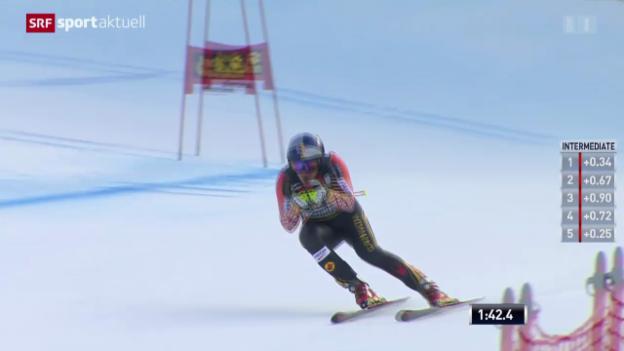 Video «Ski: Abfahrt der Männer in Gröden» abspielen