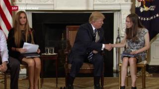 Video «Trump will mit mehr Waffen Massaker verhindern » abspielen