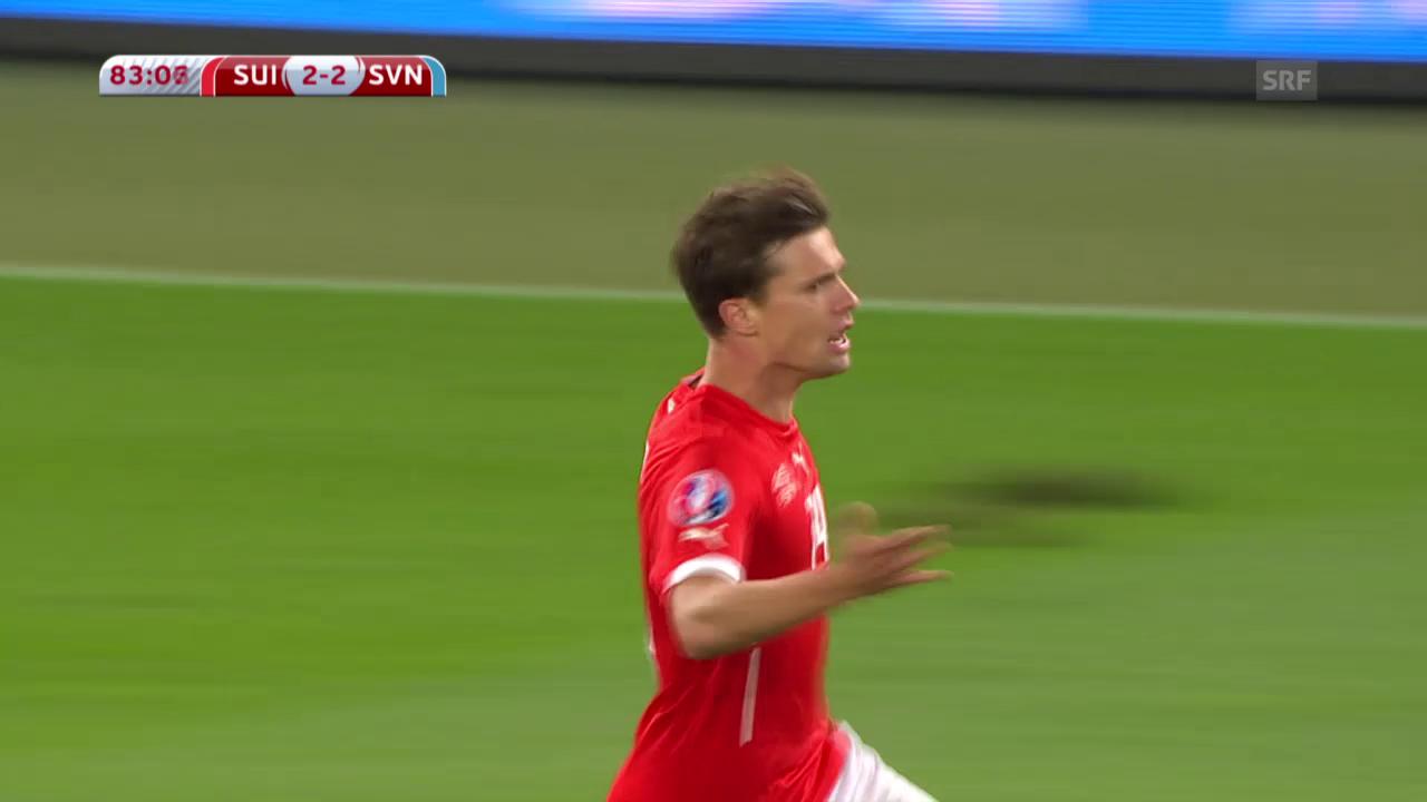Fussball: EM-Quali, Schweiz - Slowenien, Tor zum 2:2
