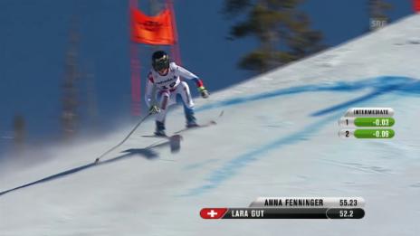 Video «Ski: WM 2015 Vail/Beaver Creek, Abfahrt Frauen, Fahrt Lara Gut» abspielen
